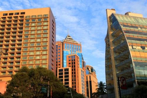 インド・バンガロールのダウンタウン風景