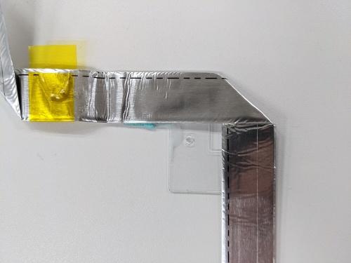 図6 透明な樹脂板がついたケーブル