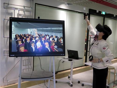 日本航空(JAL)が取り組む仮想現実(VR)を使った客室乗務員の訓練