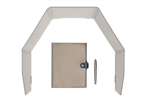 広げ方で横幅を調整でき、狭いスペースでも利用できる