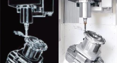 デジタルツイン機能による3Dモデル(左)と実機(右)