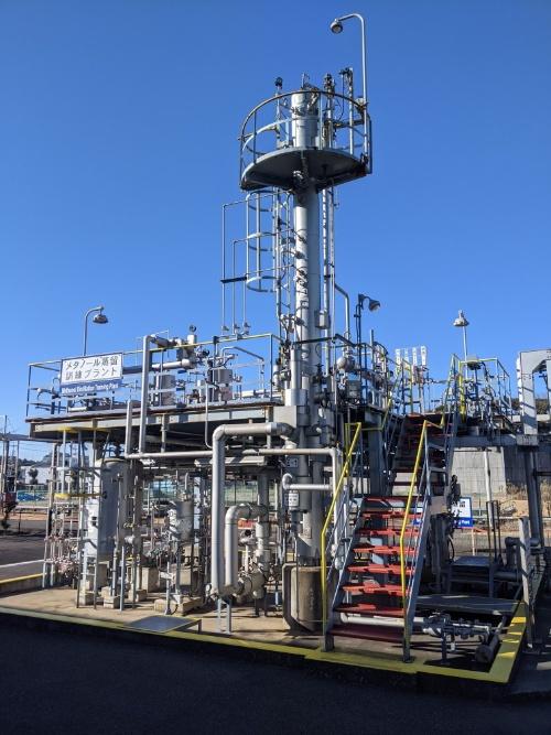 三井化学がAIの実証実験を行った訓練用のプラント