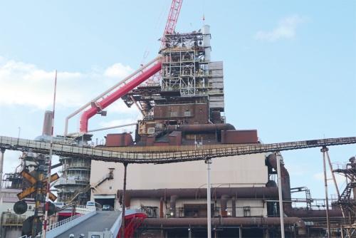 AIによる操業支援を始めた室蘭製鉄所・第2高炉(写真提供:日本製鉄)