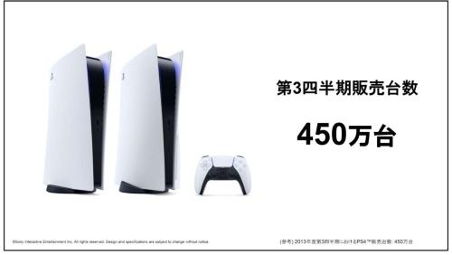 PS5の販売台数は450万台