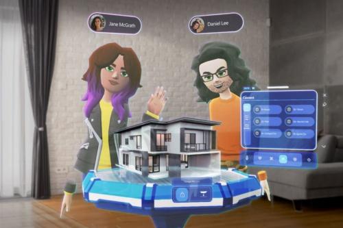 「Microsoft Mesh App」のプレビュー版のサンプル画像