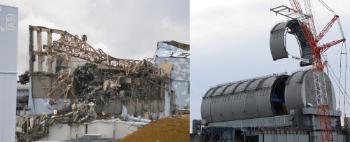 廃炉が進む福島第1原子力発電所