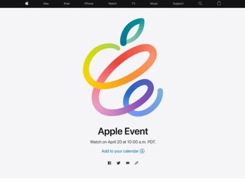 AppleのWebサイトに掲載されたイベントの告知