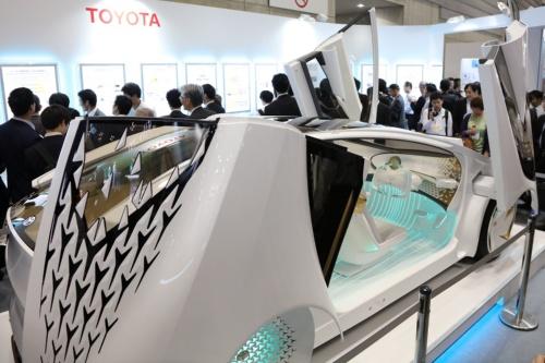 人くる展2019横浜、トヨタ自動車ブース(撮影:日経クロステック)