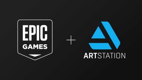 エピックゲームズのロゴとArtStationのロゴ