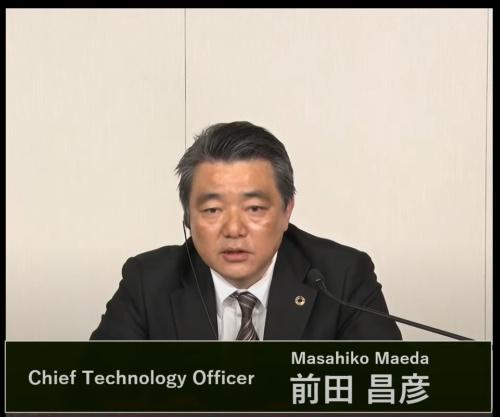 図1 トヨタ自動車の決算会見に出席した同社執行役員Chief Technology Officerの前田昌彦氏