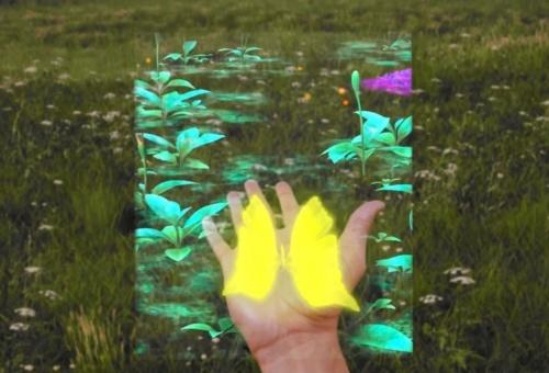 ARグラスを通じて見られる映像の例