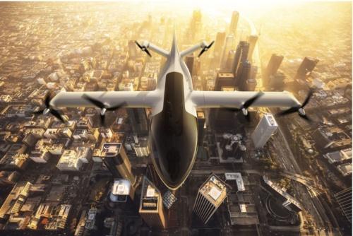UAM向け電動航空機のイメージ