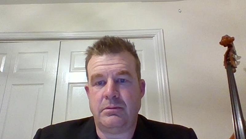 日本の報道機関向けオンライン説明会に登壇したTIのMatthew Hann氏(Product Line Manager, High Speed Data Converters) (出所:オンライン説明会動画からキャプチャー)