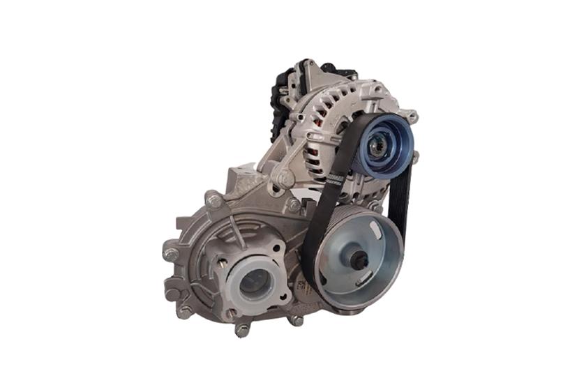 図2 最高出力12kWの駆動用モーター機構 欧州「L6e」規格、電動スクーターや電動3輪車への適用を想定する。(出所:ヴァレオジャパン)