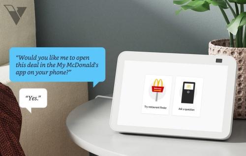 Alexaデバイスとの対話で得たクーポンをスマートフォンのアプリに送信する