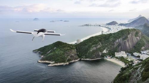 リリウムの機体がブラジルを飛行するイメージ