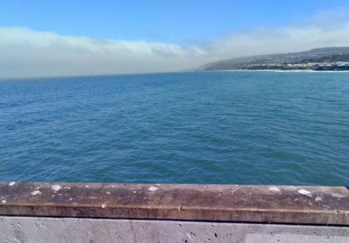 スマートグラスで撮影した海辺の静止画