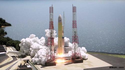 H3ロケット打ち上げの予想図