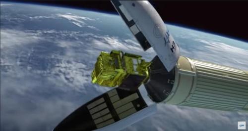 衛星フェアリングを分離(出所:JAXA)