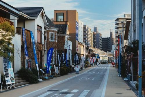 ある平日に撮影した住宅展示場(tvkハウジングプラザ横浜)