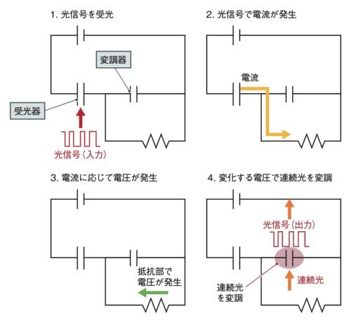 OEO変換デバイスの動作イメージ