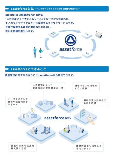 三井住友ファイナンス&リースグループが提供する資産管理SaaS「assetforce(アセットフォース)」の説明資料