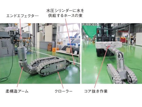 図1 柔構造アームを搭載したロボット