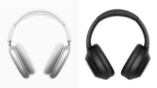 図1 左が「AirPods Max」、右が「WH-1000XM4」