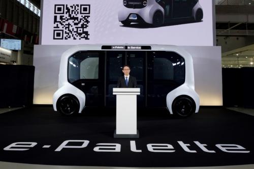 図1 トヨタ自動車は「e-Palette」をMaaS専用車として開発した