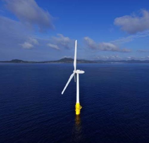 戸田建設の浮体式洋上風力発電システム