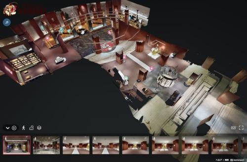 実際にあるエビスビール記念館を3Dモデルとして作成。館内を歩いて見学するような演出とした。実際と同様に展示物を見たり、エビスビールの歴史を学んだりできる(出所:サッポロビール)