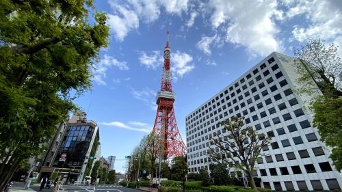 5Gと4Gのいずれも通信環境が良好な東京タワー周辺を計測地点に選定