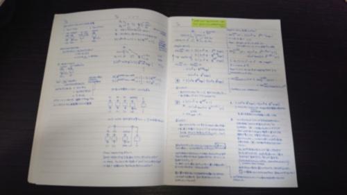 井上明子氏のOCB2研究時の研究ノート(ぼかしを入れてあります)