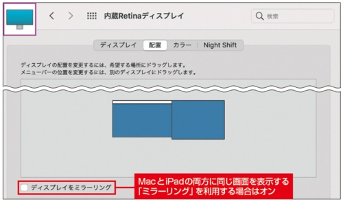 MacとiPadの画面を使いやすく配置