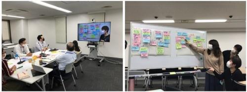 三井住友ファイナンス&リースにおけるAIプロジェクトの様⼦。リース物件の明細書類を基にデータ入力している業務部門がデジタル推進部署と共同でAIプロジェクトを開始した(2020年10月)