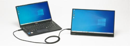 図21 映像出力に対応したUSB Type-C端子を持つパソコンなら、ケーブル1本で映像と音声出力および給電ができる