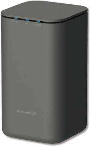 NTTドコモの携帯回線を使ってインターネットに接続するルーター「home 5G HR01」。月額4950円でデータ量の制限なく利用できる