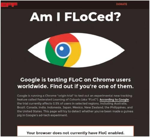 テスト運用中の広告技術「FLoC」について、自分がテスト対象かどうかを調べられるWebサイト「Am I FLoCed?」(https://amifloced.org/)