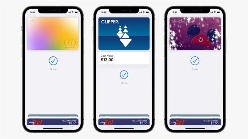 Apple Card、Clipper、Disney MagicMobileの3種類のNFCカードがWalletアプリ上にそろい踏み