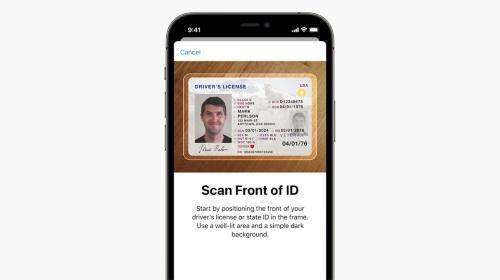 iOS 15では米国の運転免許証を取り込んで公的IDとして利用可能になる