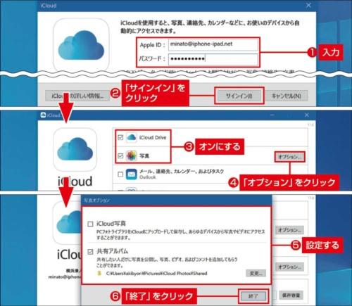 図4 Windowsパソコンでは「iCloud Drive」と「写真」が、iCloudの独自機能としてお薦め。それ以外はほかのアプリなどで代用する方が使いやすい