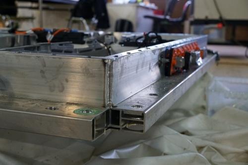 電池パックのフレームのコーナー部分