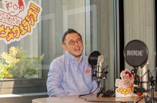 ZOZOが手掛けるライブ配信「DJさわだのナナメウエラジオ!!」の風景。澤田社長兼CEOがパーソナリティーを務める