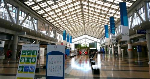 国際放送センターやプレスセンターが置かれ、隔離する「バブル」の施設となった東京ビッグサイト (東京国際展示場)