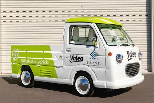 図1 ヴァレオジャパンと群馬大学が共同で試作した48V駆動の軽EVトラック