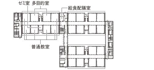 3階平面図 ※学年別に同様のユニット構成としている