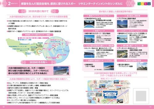 21年7月21日公表の「大会後のレガシーを見据えた東京都の取組―2020のその先へ―」より。様々な取り組みをテーマ別に整理したものだ。事後評価の視点が示されているわけではない(資料:東京都)