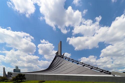 国立代々木競技場第一体育館の吊り屋根(写真:日経クロステック)