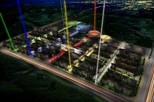 北京オリンピック選手村案(マスタープラン、2003年)(資料:丹下都市建築設計)