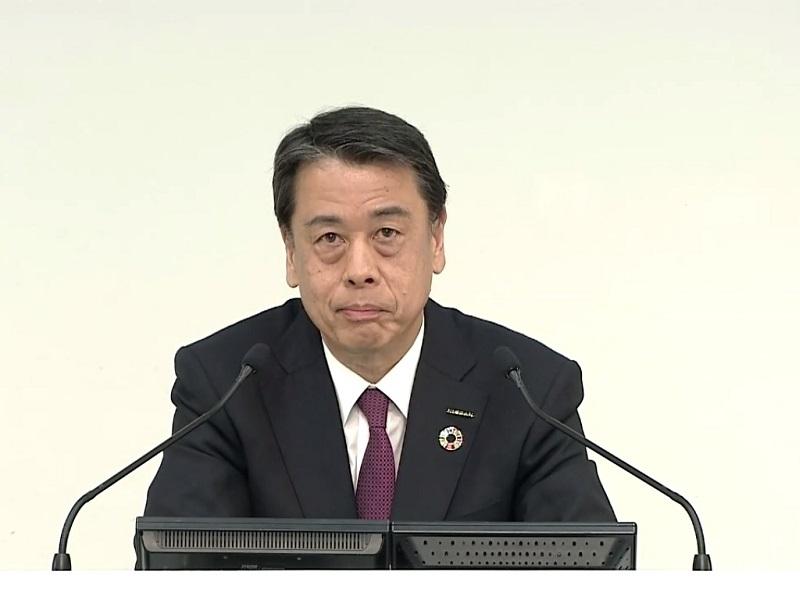 図1 日産自動車社長兼CEOの内田誠氏  (オンライン会見の画面をキャプチャー)